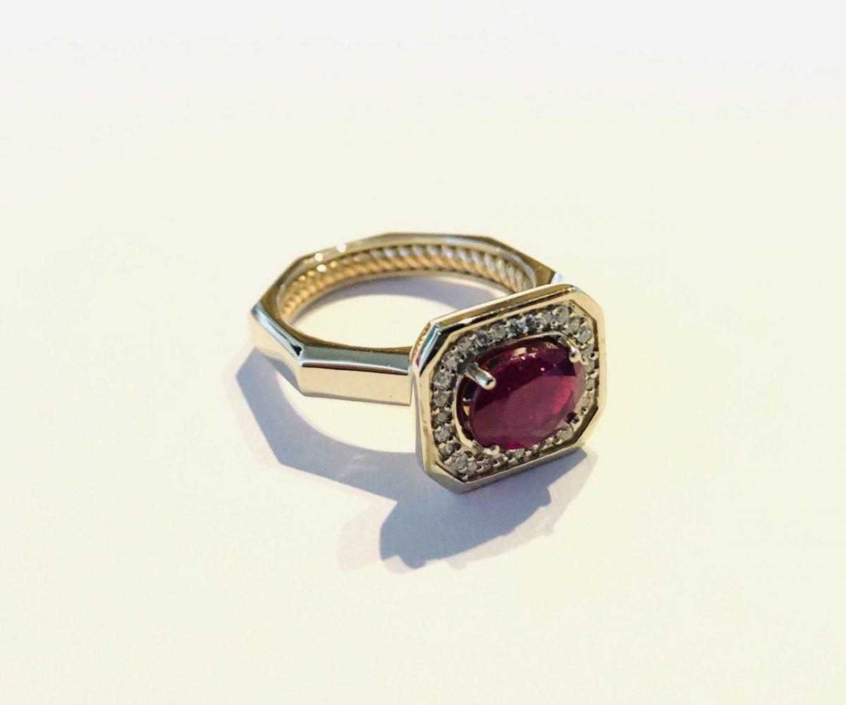 انگشتر جواهر یاقوت قرمز