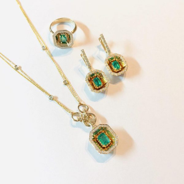 ست کامل جواهر و زمرد