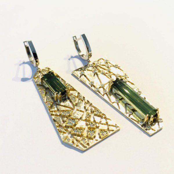 گوشواره جواهر تورمالین