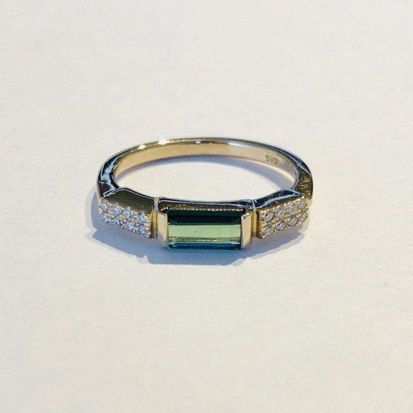 انگشتر جواهر تورمالین