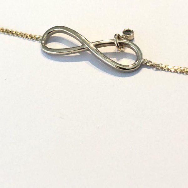 دستبند طلا طرح بینهایت