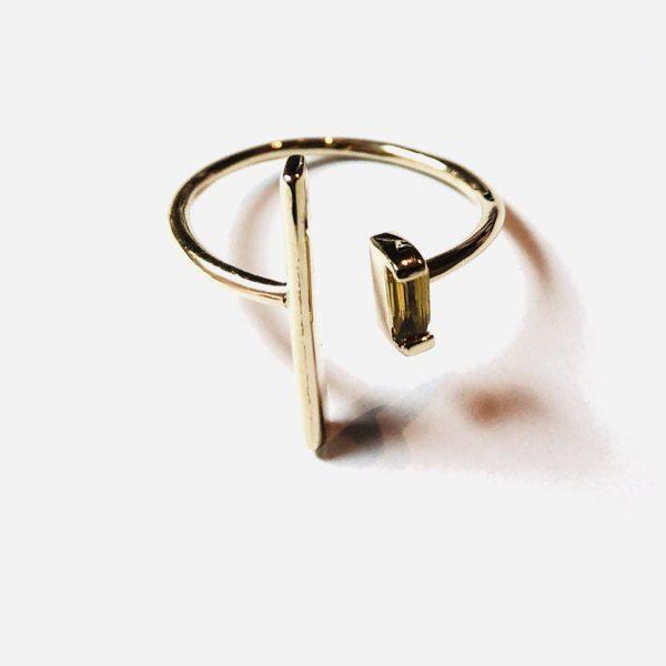 انگشتر طلا طرح مفتول