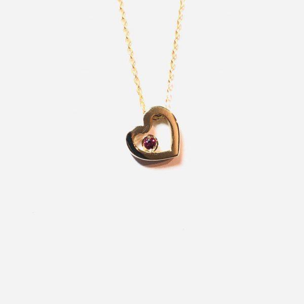 گردنبند طلا قلب