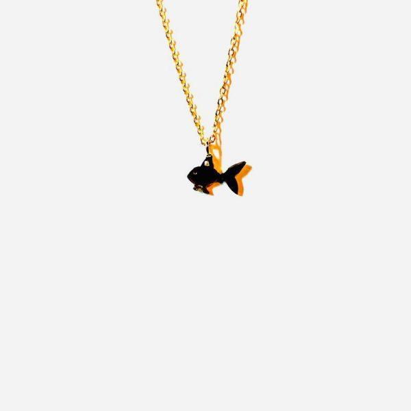 گردنبند طلا ظریف ماهی