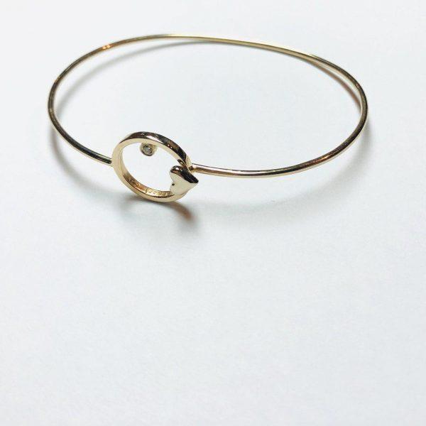دستبند مفتولی طلا دایره