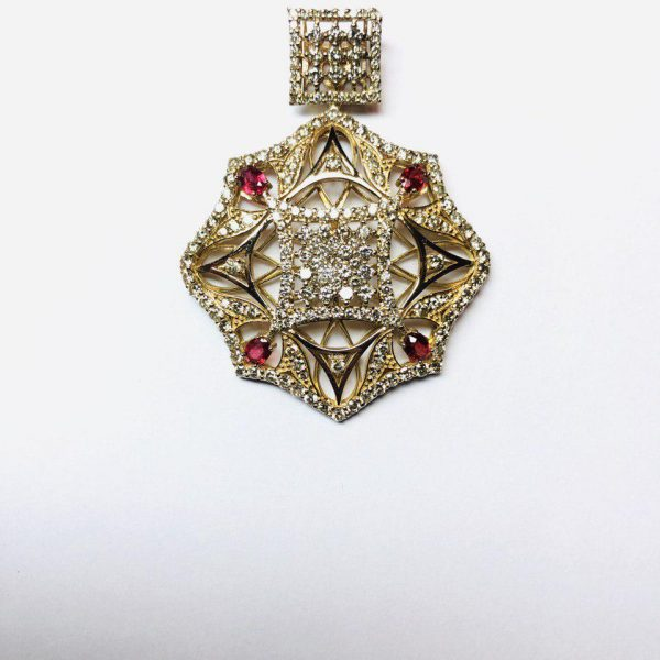 مدال جواهر و یاقوت برلیان